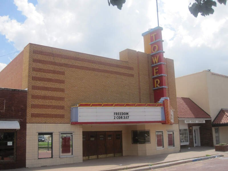 Tower Theater In Postc Tx Img