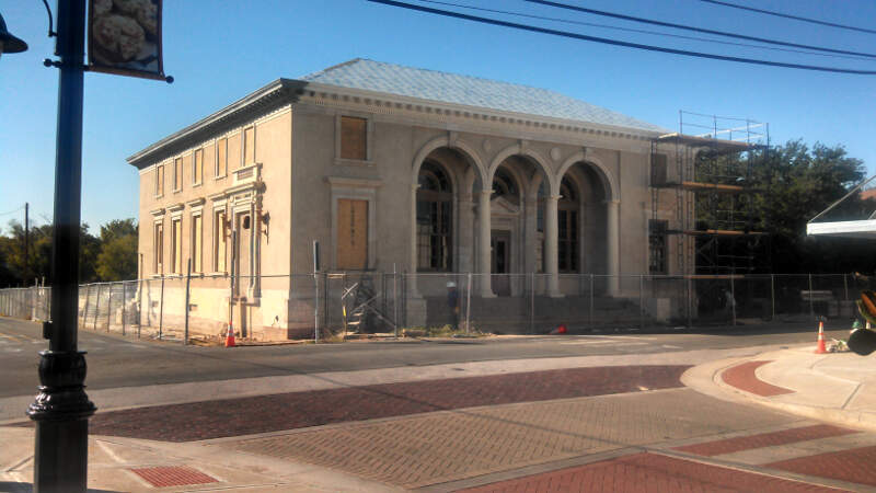 Building Being Rehabilitated To Be The New City Hall