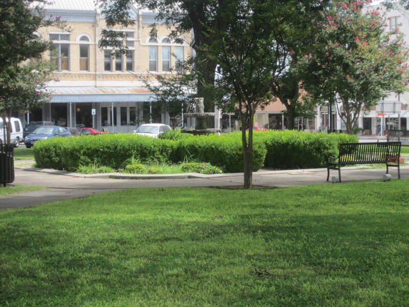 Green Space In The Town Squarec Uvaldec Tx Img