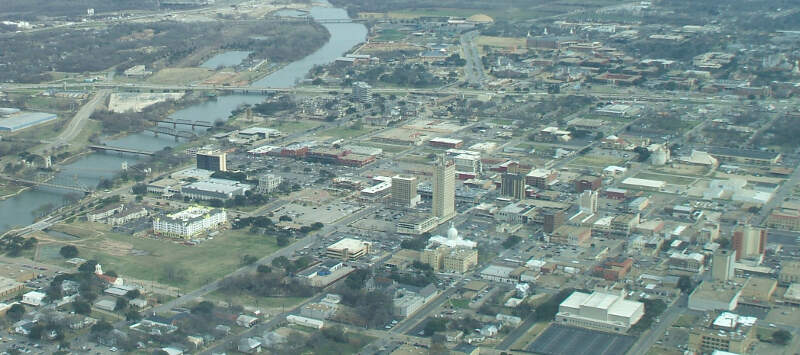 Aerial View Of Downtown Waco Looking East