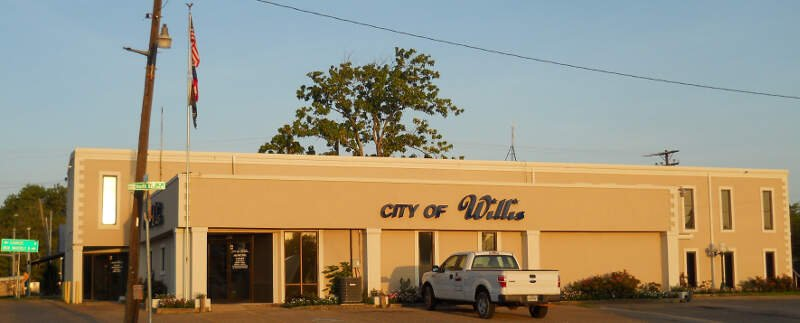 City Hall Of Willisc Texasc East View
