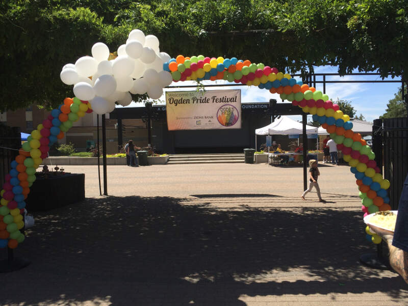 Entrance To The St Annual Ogden Pride Festival At The Ogden City Municipal Amphitheaterc Ogdenc Ut