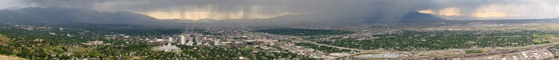 Rainstorm Over Salt Lake City