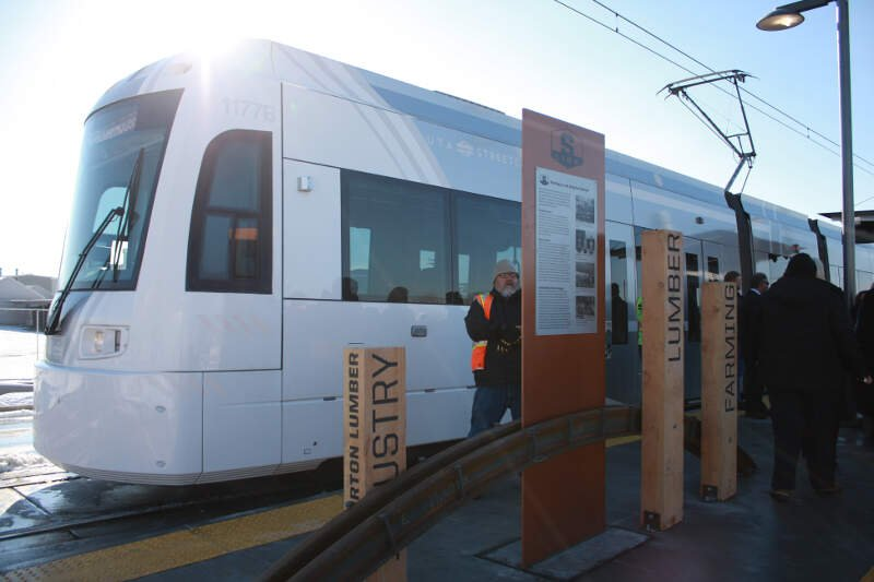 The S Line Street Car In South Salt Lake Cityc Ut December