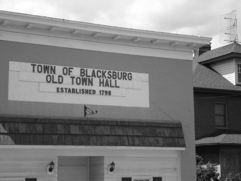 Blacksburg Virginia Old Town Hall
