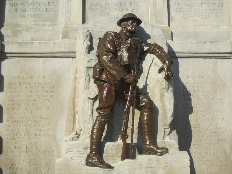 World War I Memorialc Lynchburgc Va Img