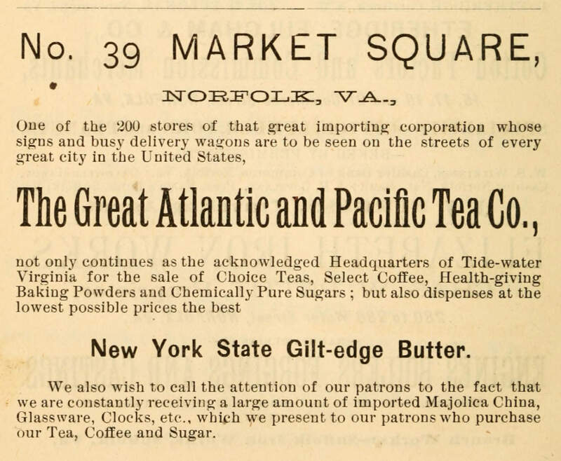 Great Atlantic And Pacific Tea Co Advert For Norfolk