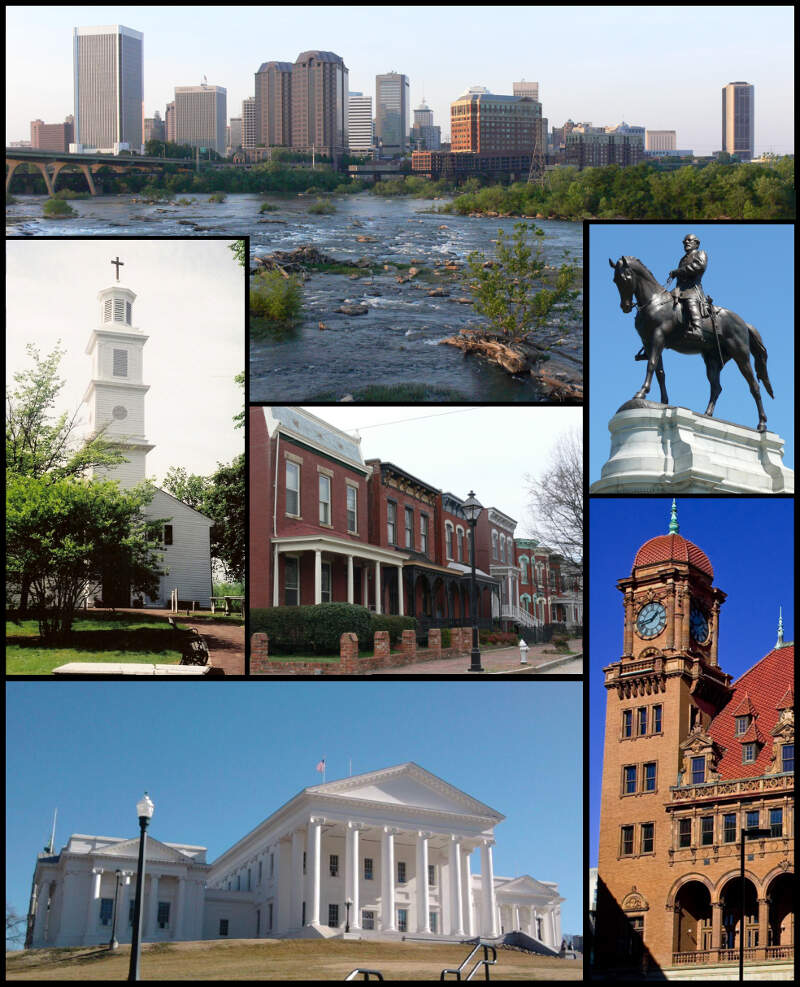Collage Of Landmarks In Richmondc Virginia V