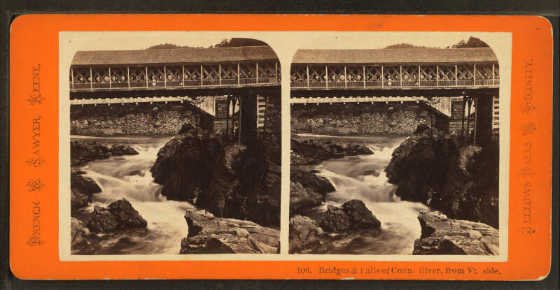 Bridges Falls Of Connecticut Riverc From Vermont Sidec By French Sawyer