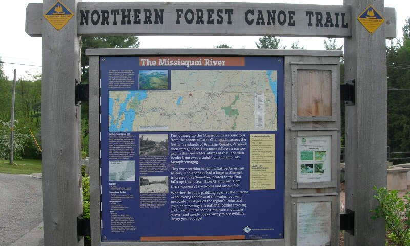 Northern Forest Canoe Trail Sign In Enosburg Falls
