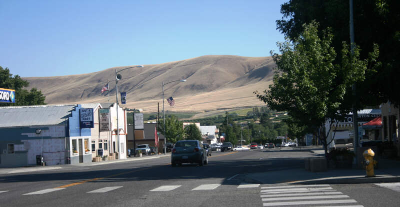 Benton City Washington  Looking South Through Main Street  July