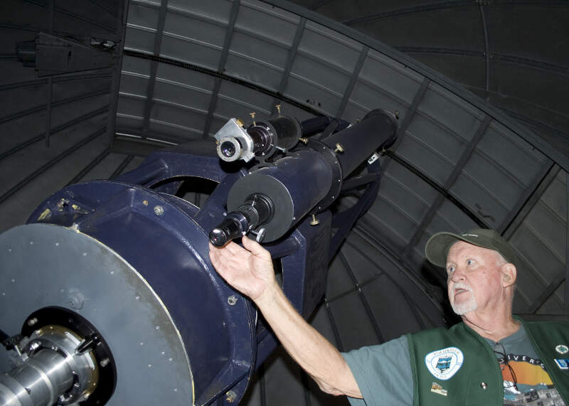 Large Telescope At The Goldendale Wa Observatory