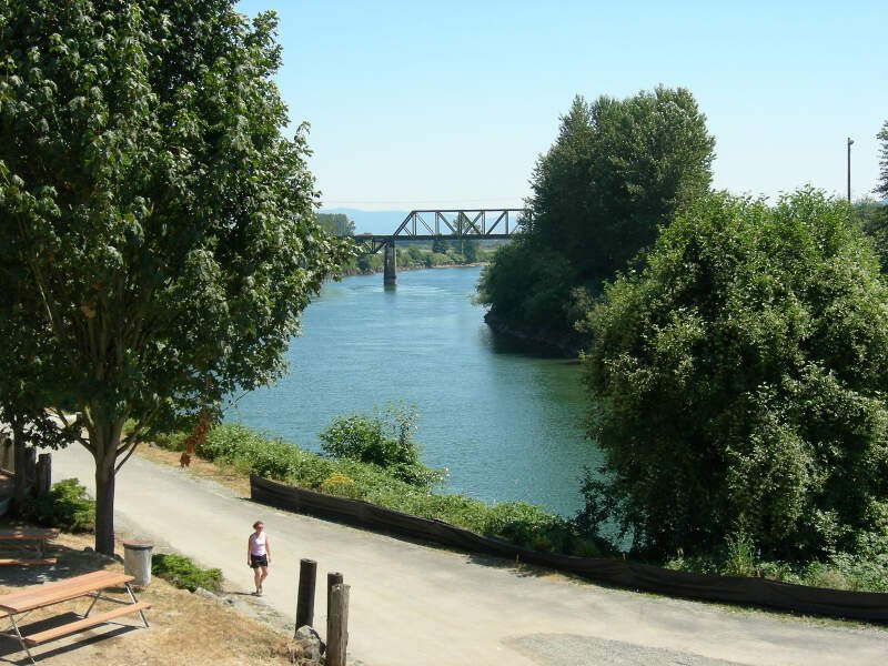River Seen From Downtown Snohomish