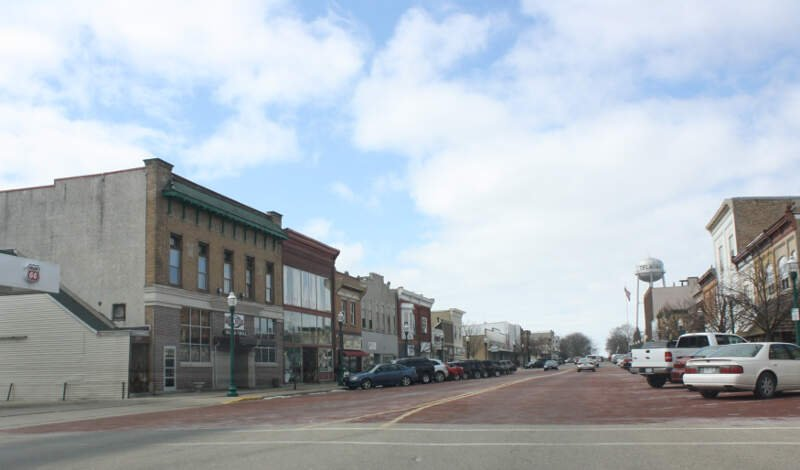 Delavan Wisconsin Downtown Looking West  Us