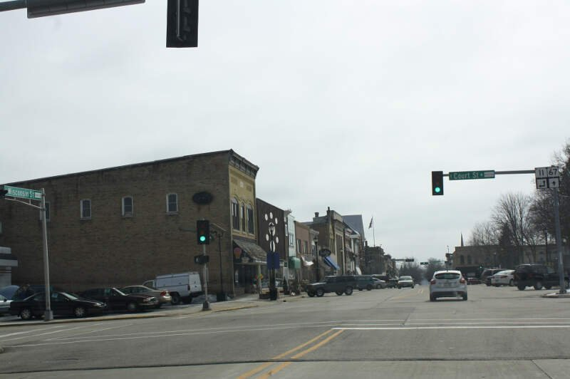 Elkhorn Wisconsin Downtown Looking South Wis Wis