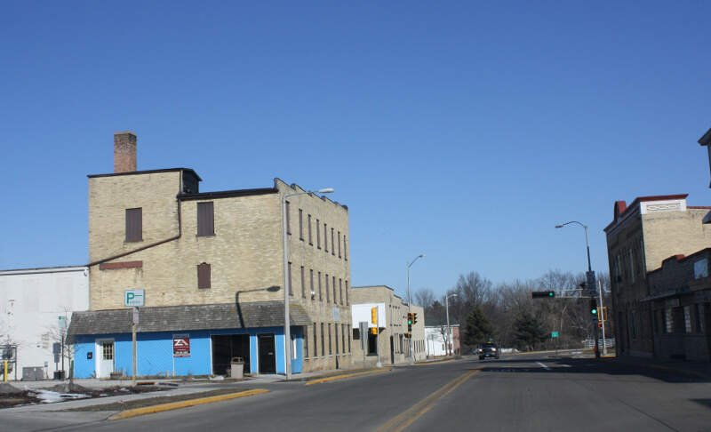 Ripon Wisconsin Downtown Looking North Wis Wis