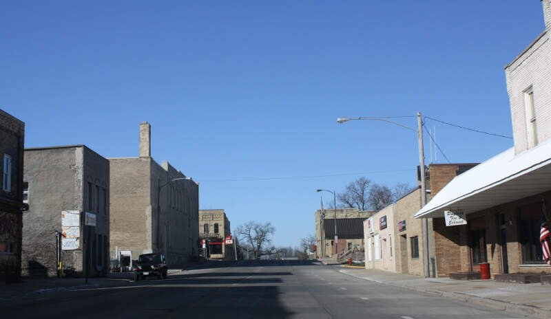 Ripon Wisconsin Downtown Looking West Wis