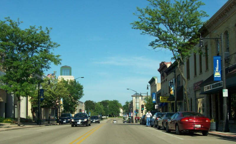 Sunprairiewisconsindowntown