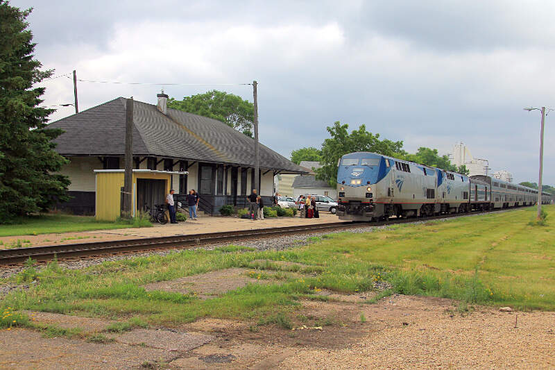 Amtrak Empire Builder At Tomahc Wisconsin